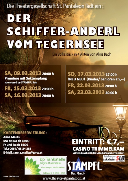 Der Schifferanderl vom Tegernsee - Stück 2013 - St.Pantaleon