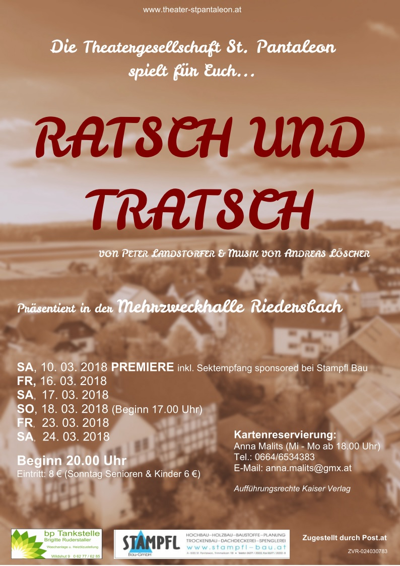Ratsch und Tratsch -Stueck 2018-St.Pantaleon