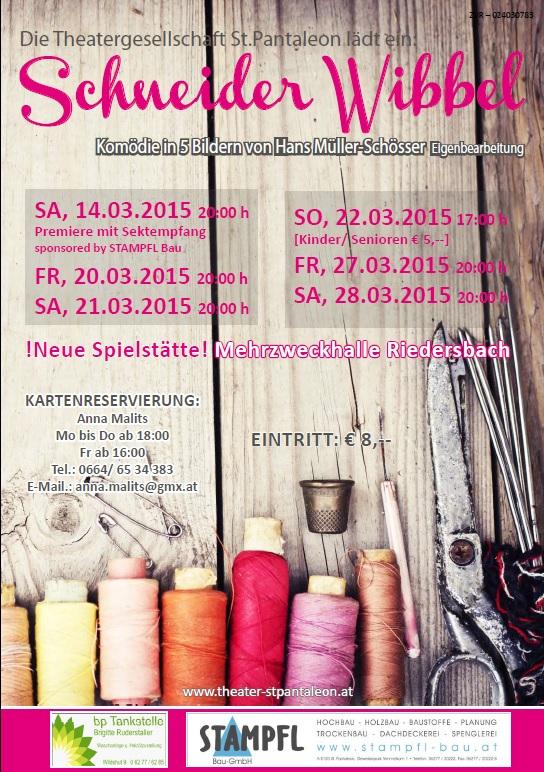 Schneider Wibbel - Stück 2015 - St.Pantaleon