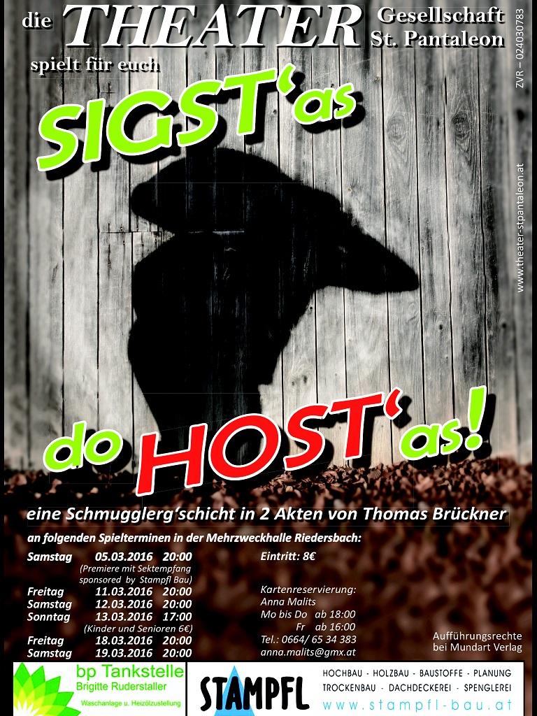 Siagst'as do host'as - Stück 2016 - St.Pantaleon